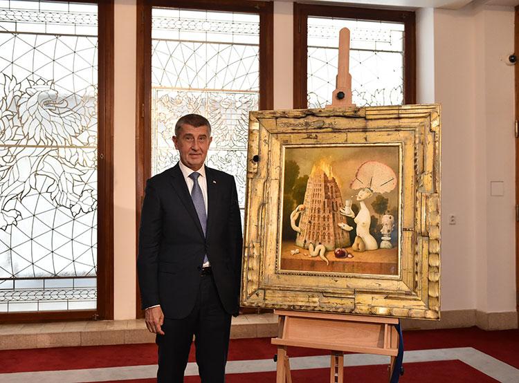 Чешский премьер подарил президенту Франции картину с вавилонской башней. Премьер-министр Чехии Андрей Бабиш  Фото: Úřad vlády ČR  11 ноября 2018
