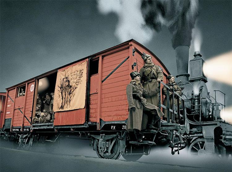 Поезд чешских легионеров можно увидеть в Праге до 18 ноября. Реплика поезда чешских легионеров. Изображение с сайта csol.cz  12 ноября 2018