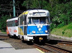Два последних в мире действующих трамвая T2R вышли на маршрут в последний раз. Трамвай T2R в Либерце в 2006 году. Wikipedia, автор фото Adam Fogl  18 ноября 2018