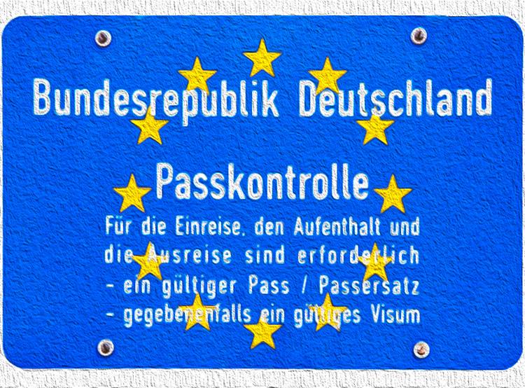 Германия может вернуть пограничный контроль с Чехией из-за пропажи газонокосилок. Знак на границе Германии  Фото: коллаж Utro.cz  27 ноября 2018 года
