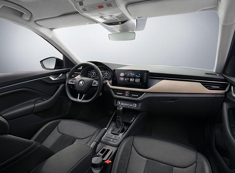Škoda Auto показала фотографии интерьера своей новой модели Scala. Интерьер ŠKODA SCALA  29 ноября 2018 года