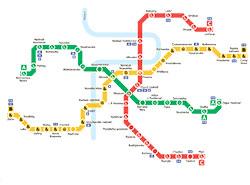Как будет работать пражский транспорт накануне Рождества. Схема пражского метро  30 ноября 2018