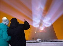 Градирни ядерных электростанций в Чехии превратились в 100-метровые рождественские елки. Фото: фейсбук информационного центра электростанции «Дукованы» Infocentrum JE Dukovany  2 декабря 2018