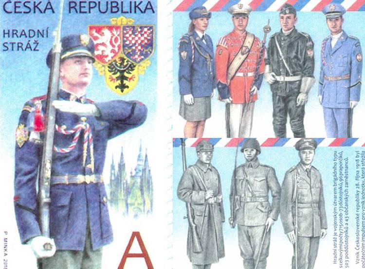 Чешская почта выпустила марку к 100-летию стражи Пражского града. Новая марка. Изображение Česká pošta  9 декабря 2018 года