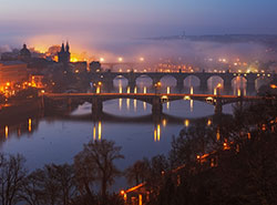 Прага заняла 20-е место в списке самых популярных у туристов городов. Вид на пражские мосты  Фото: Czech Tourism  9 декабря 2018