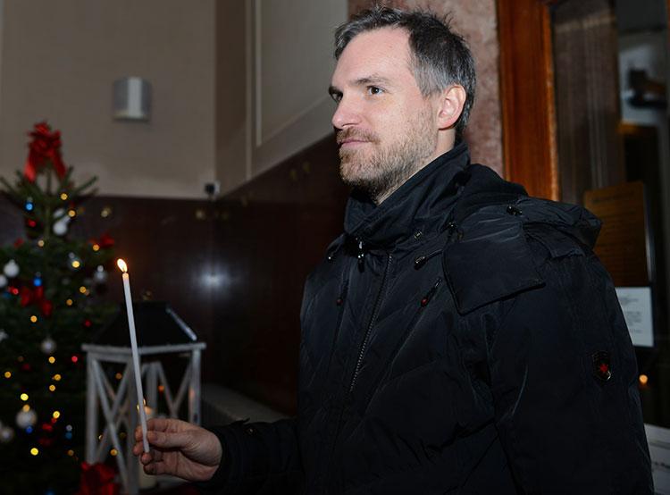 В Прагу в 30-й раз доставили Вифлеемский огонь. Мэр Праги Зденек Гржиб. Фото пресс-службы пражского магистрата  17 декабря 2018 года