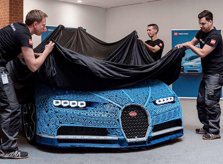 В пражском торговом центре можно увидеть Bugatti Chiron из миллиона кубиков Lego. Модель Bugatti Chiron. Фото Lego  17 декабря 2018 года