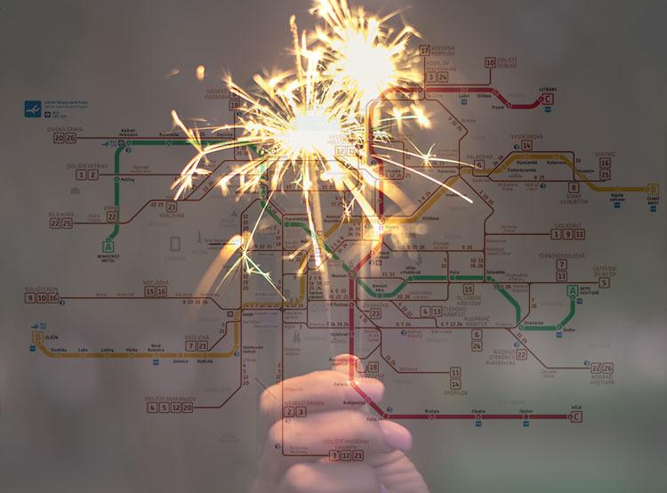 Объявлен график работы общественного транспорта в Праге на Рождество и Новый год .   17 декабря 2018