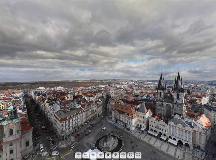 405 гигапикселей: самая большая панорама Праги склеена из 8 тысяч снимков. Фрагмент панорамы. Скриншот сайта www.gigapanorama.cz  23 декабря 2018 года