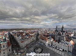 405 гигапикселей: самая большая панорама Праги склеена из 8 тысяч снимков. Фрагмент панорамы. Скриншот сайта www.gigapanorama.cz  23 декабря 2018