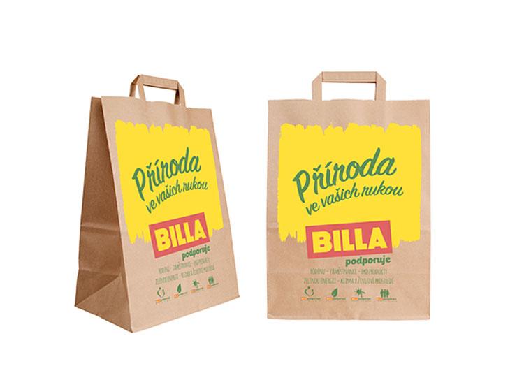 Сеть супермаркетов в Чехии полностью отказалась от пластиковых пакетов. Фото billa.cz  2 января 2019 года