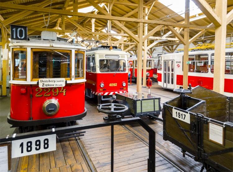 Пражский Музей общественного транспорта будет работать и зимой. В пражском Музее общественного транспорта. Фото dpp.cz  5 января 2019 года