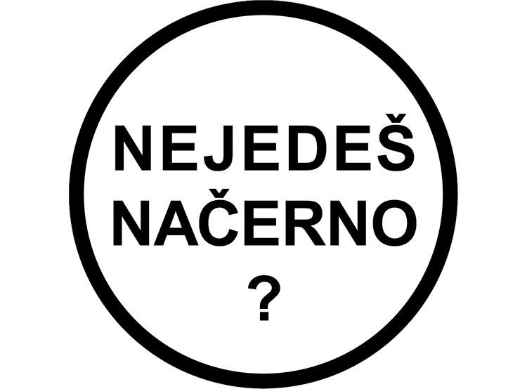 В Праге стало меньше безбилетников в связи с возможностью «уполовинить» штраф. Логотип кампании «Не ездишь по-черному?» в Праге. Изображение с сайта www.nejedesnacerno.cz  14 января 2019 года