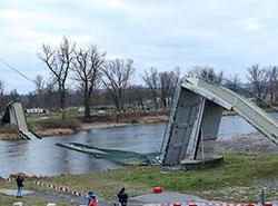 Вместо обвалившегося моста в Праге начнут строить новый. Тройский мост в Праге на следующий день после обрушения. Autor: Jan Polák, CC BY-SA 3.0, https://commons.wikimedia.org/w/index.php?curid=64560036  16 января 2019