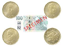 Чехия отметит 100-летие кроны выставкой на Пражском граде и юбилейными монетами.  Монеты и банкнота к 100-летнему юбилею кроны. Фото ČNB.  21 января 2019