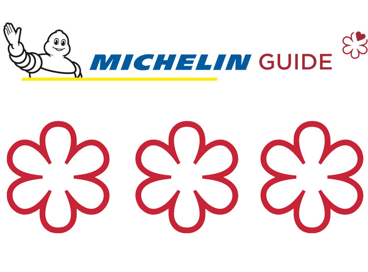Ресторан чешского премьера на Лазурном берегу потерял звезду Мишлен. Логотип гида Мишлен и три звезды  22 января 2019