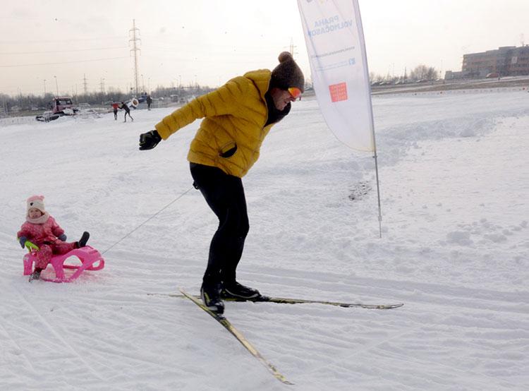 В Праге открылся бесплатный лыжный парк. В Праге открылся ски-парк. Фото пресс-службы магистрата Праги  25 января 2019 года