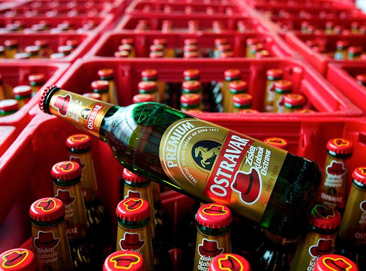 Польша готова мстить чешскому пиву за претензии к говядине. Пиво Ostravar. Фото пресс-службы Staropramen  21 февраля 2019 года