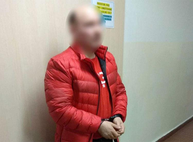 В Праге задержали иностранца, разыскиваемого за убийства в Нидерландах, Венгрии и Сербии . Задержанный на Жижкове международный преступник  Фото: Policie ČR  2 марта 2019 года
