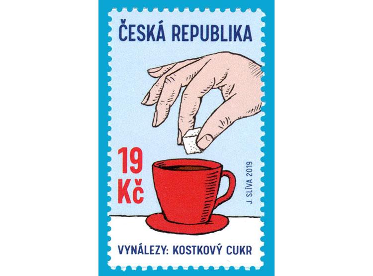 Чешская почта посвятила марку сахару-рафинаду. Почтовая марка, посвященная сахару. Фото Česká pošta  21 марта 2019 года