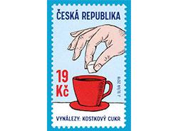 Чешская почта посвятила марку сахару-рафинаду.  Почтовая марка, посвященная сахару. Фото Česká pošta.  21 марта 2019