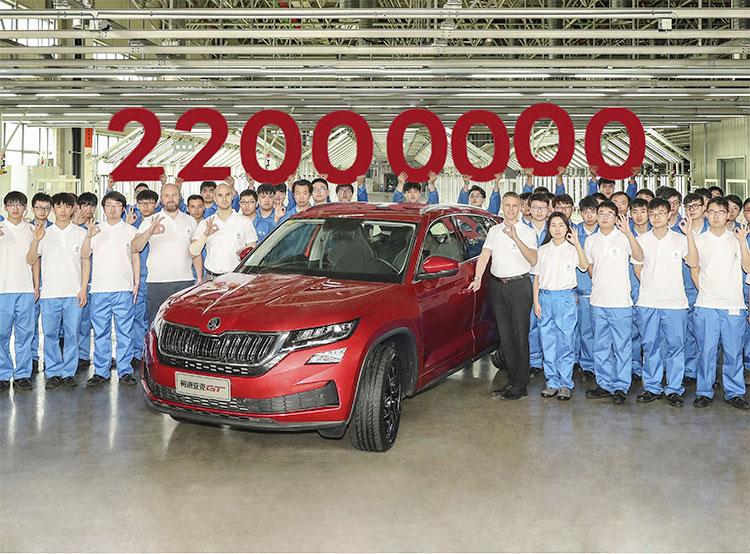 Škoda выпустила 22-миллионный автомобиль в своей истории. 22-миллионный автомобиль Škoda. Фото пресс-службы Škoda Auto  11 апреля 2019