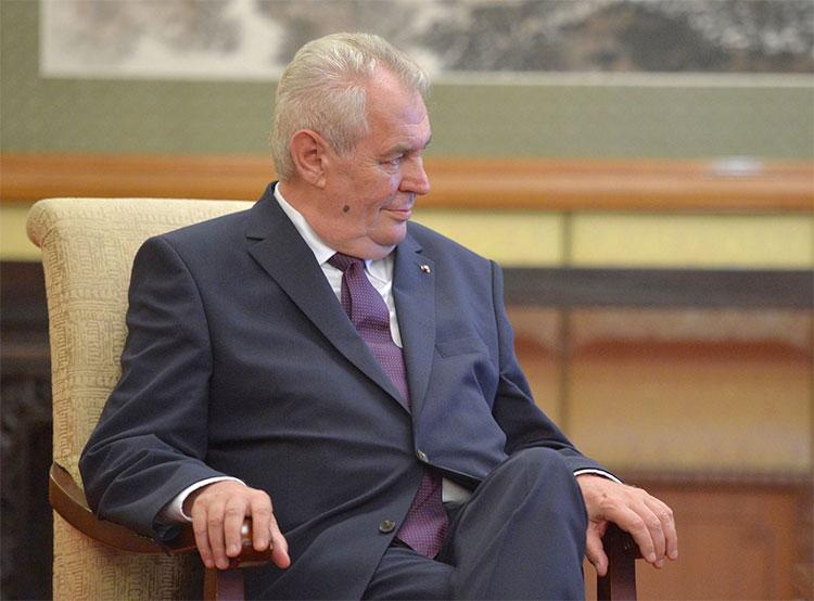 Земан объяснил, почему Порошенко проиграл Зеленскому. Президент Чехии Милош Земан. Фото Kremlin.ru  26 апреля 2019 года