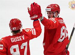 Сборные Чехии и России победили соперников в стартовых матчах чемпионата мира по хоккею. Российские хоккеисты во время стартового матча ЧМ-2019 с Норвегией. Фото fhr.ru  10 мая 2019