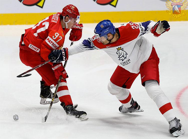 Сборная России разгромила команду Чехии на ЧМ-2019 по хоккею. Россия обыграла Чехию со счетом 3:0. Фото fhr.ru  13 мая 2019
