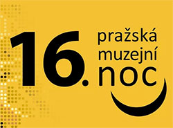 16-я Ночь музеев в Праге состоится 8 июня.  Логотип пражской Музейной ночи — 2019.  14 мая 2019