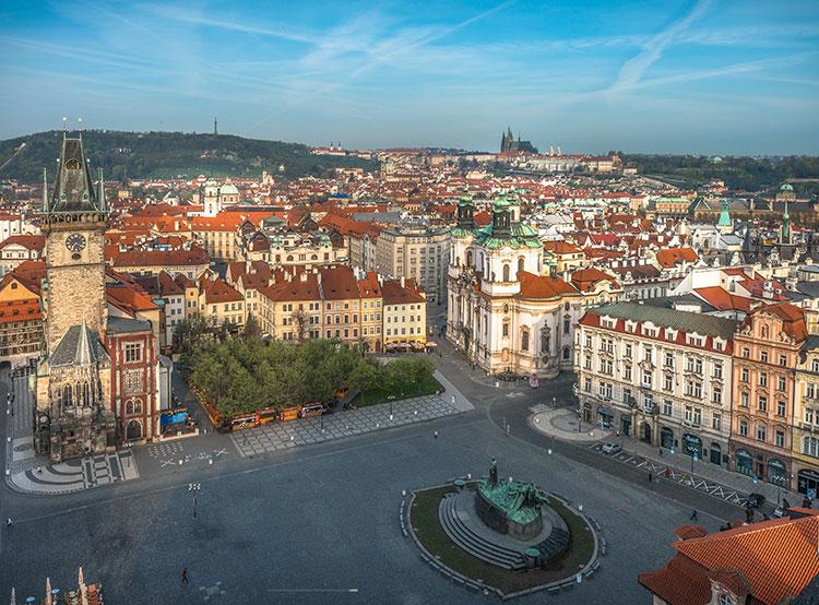 Полуфинал чемпионата мира по хоккею покажут на Староместской площади.  Староместская площадь в Праге. Фото Prague City Tourism.  24 мая 2019