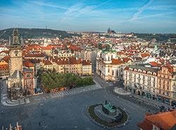 Полуфинал чемпионата мира по хоккею покажут на Староместской площади. Староместская площадь в Праге. Фото Prague City Tourism  24 мая 2019