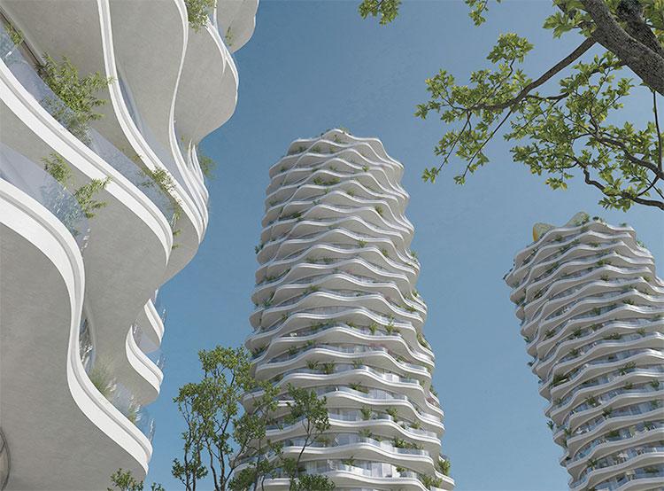 Место «пражского Мордора» займет жилой комплекс по проекту Эвы Йиржичной. Победивший проект. Визуализация AI Design  25 мая 2019 года