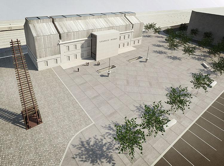 Пражский вокзал превратится в памятник депортированным евреям. Визуализация будущего Музея тишины. Фото пресс-службы магистрата Праги  30 мая 2019