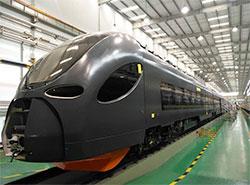 Чешский перевозчик Leo Express заказал в Китае три поезда за 5 млрд крон. Новый поезд на заводе в Китае. Фото пресс-службы Leo Express  3 июня 2019
