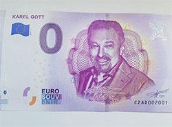 К юбилею Карела Готта выпустят памятную купюру в ноль евро. Банкноты к юбилею Карела Готта. Фото facebook.com/EuroSouvenirCZ  28 июня 2019