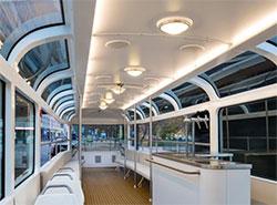 Пражский ретротрамвай и урны получили престижную премию в области дизайна.  Интерьер трамвая T3 Coupe. Фото Petr Hejna (DPP).  11 июля 2019