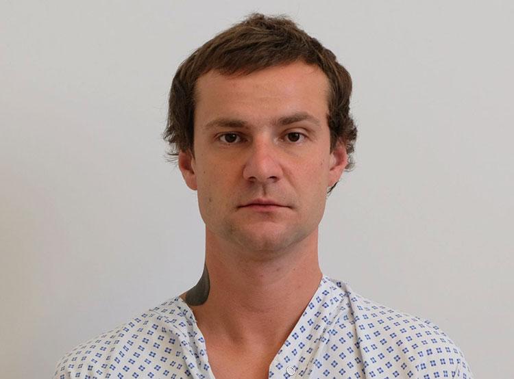 Пражская полиция задержала Яна Гуса на месте преступления. Задержанный «Ян Гус»  Фото: Policie ČR  12 июля 2019