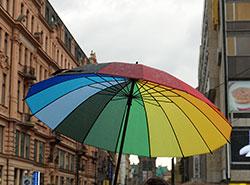 В пражском ЛГБТ-параде приняли участие до 30 тысяч человек.  Прайд-парад в Праге.  Фото: Utro.cz.  10 августа 2019