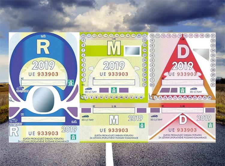 Дорожные марки с 2021 года станут электронными. Чешские дорожные виньетки  14 августа 2019