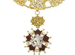 Земан в честь праздника раздал «Белых львов» и другие ордена и медали.  Орден Белого льва. Изображение Národní museum, Praha.  28 октября 2019